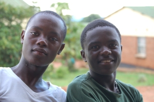 Levison and Chimwewe - 8th grade boys from Mtendere Village, sat with me one afternoon and practiced English