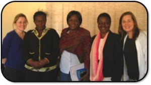 Faculty from the Community Department – Claire (from Australia), Idesi, Winnie, Jane and Debbie