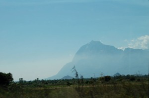 View of Mount Mulanje from a distance