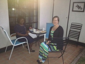 Dr. Deb Walker and Maria Chikalipo, KCN maternal-child nursing faculty member
