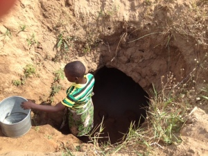 Getting water at the well